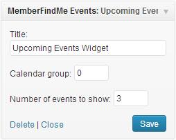 event widget