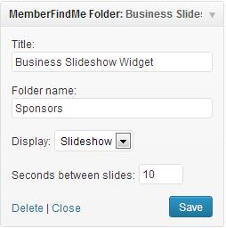 folder widget