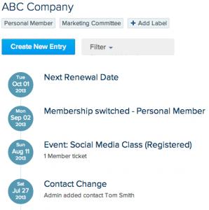 member tracking timeline
