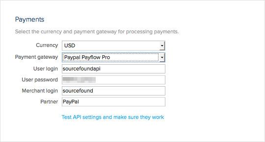 payflow-api-settings