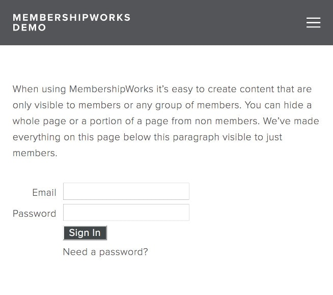 Member Only Pages
