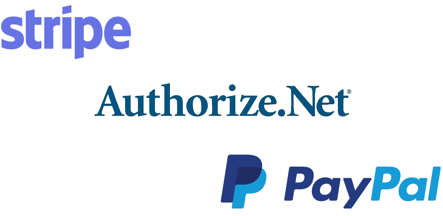 comparing Authorize.net, Stripe and Paypal