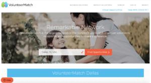 volunteer matching