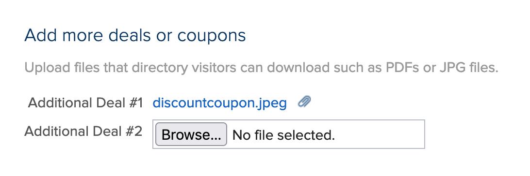 member upload files for directory display