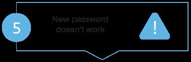 Member login step 5 - New password doesn't work