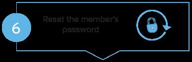 Member login step 6 - Reset the member's password