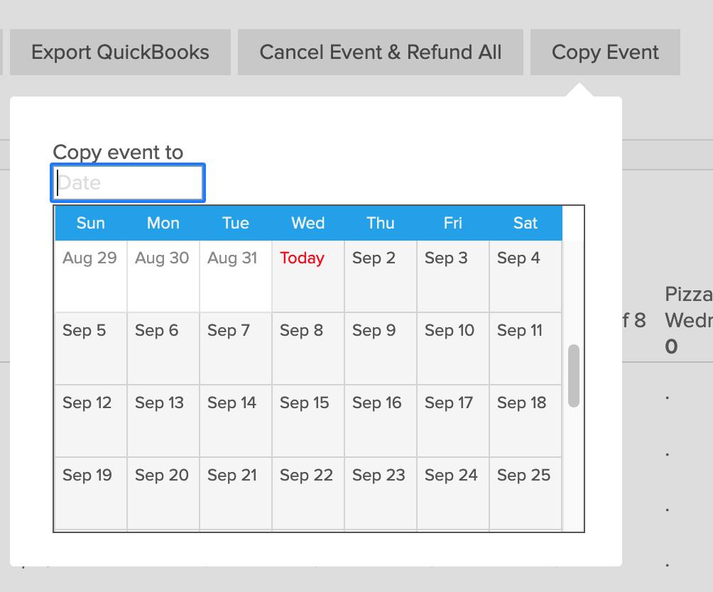 copy event feature
