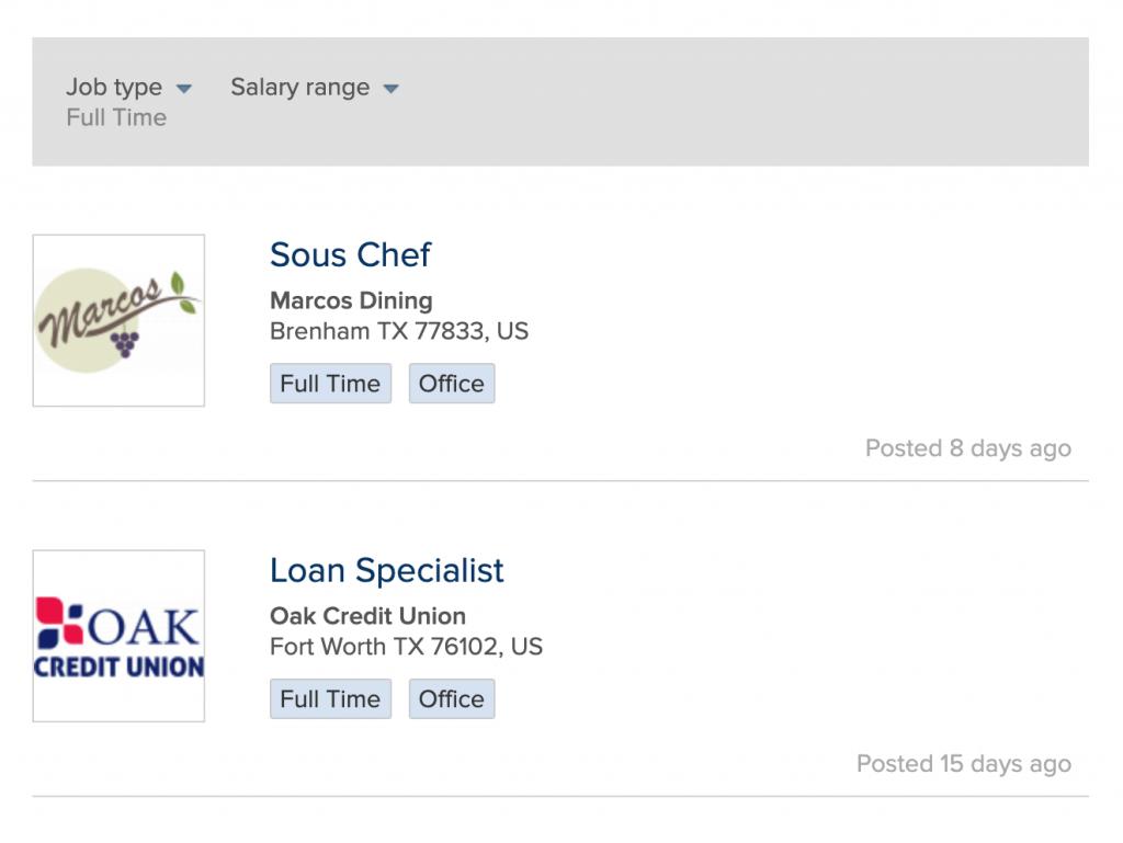 job board listings