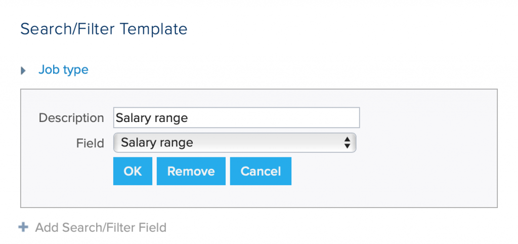 search/filter template